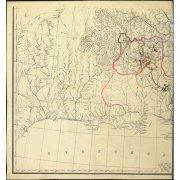 Карта бассейнов рек Колымы и Индигирки