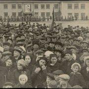 Митинг, посвященный Дню Победы. 1945г.