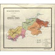 Схема размещения территориальных управлений Магаданской области