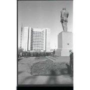 Негатив. Возложение цветов к памятнику В.И. Ленина