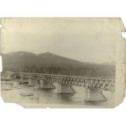 Фотография. Мост через реку Колыму