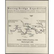Карта-схема совместной советско-американской экспедиции